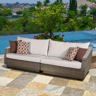 Castelli Sofa with Sunbrella Cushions by Wade Logan
