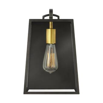 17 Stories Fincastle Brown 1 Bulb Outdoor Wall Lantern Wayfair
