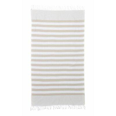 Brielle Pestemal Turkish Cotton Beach Towel Color: Linen