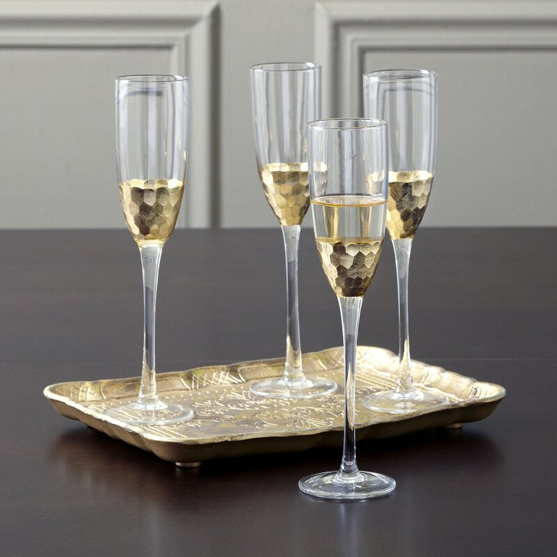 Chauncey Champagne Flutes