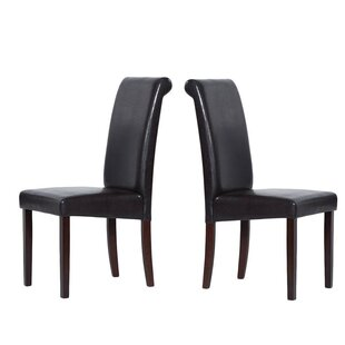 Berchmans Synthetic Leather Upholstered Dining Chair (Set of 2) Charlton Home