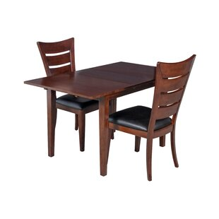 TTP Furnish Armstrong 3 Piece Solid Wood Dining Set