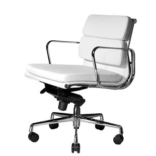 Wobi Office Clyde Mid-Back Leather Desk Chair