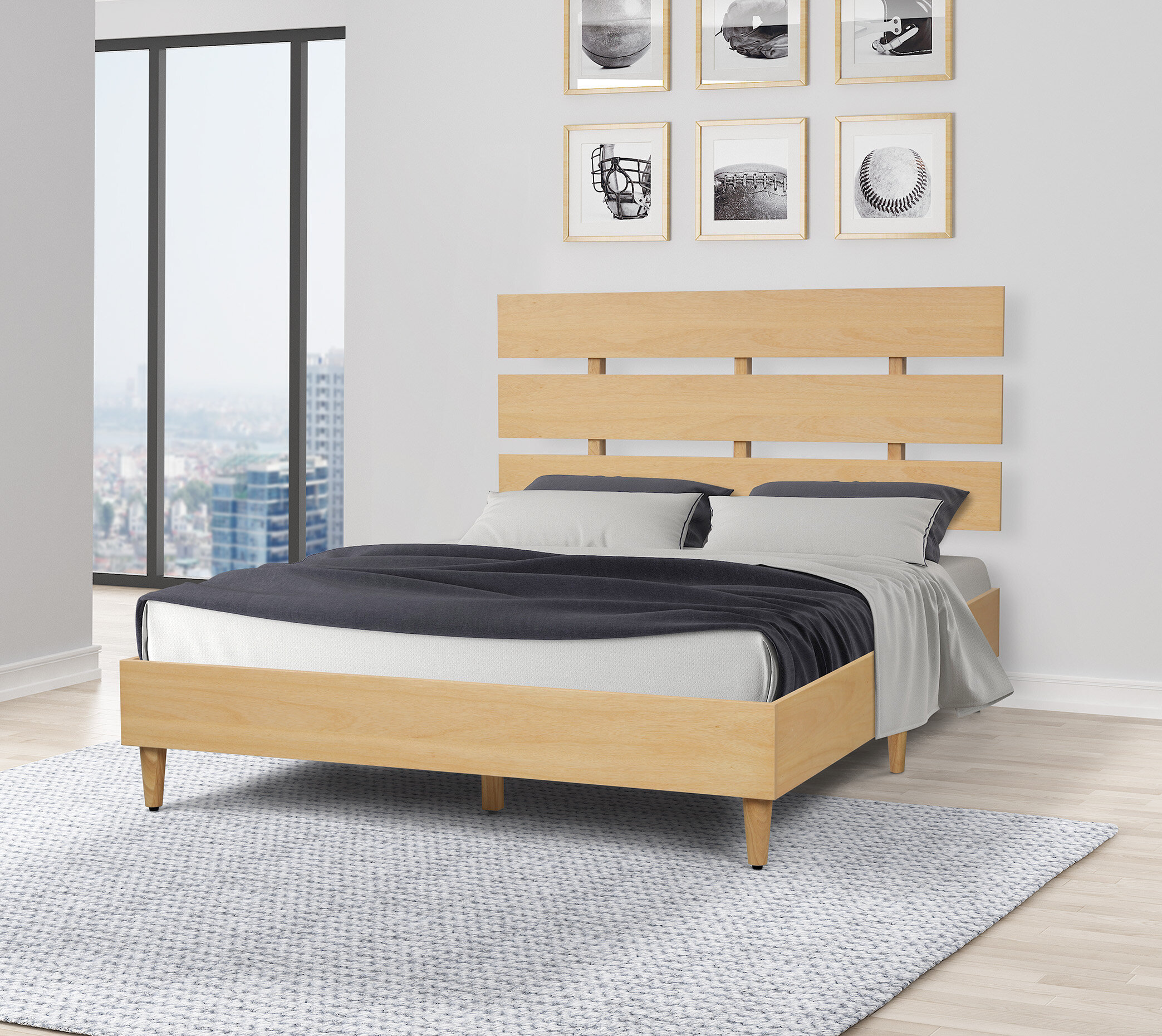 Hickok Queen Solid Wood Platform Bed Allmodern