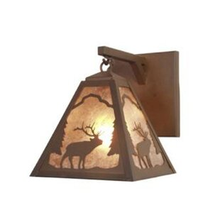 Reviews Elk Timber Ridge Hanging 1-Light Outdoor Wall Lantern By Steel Partners