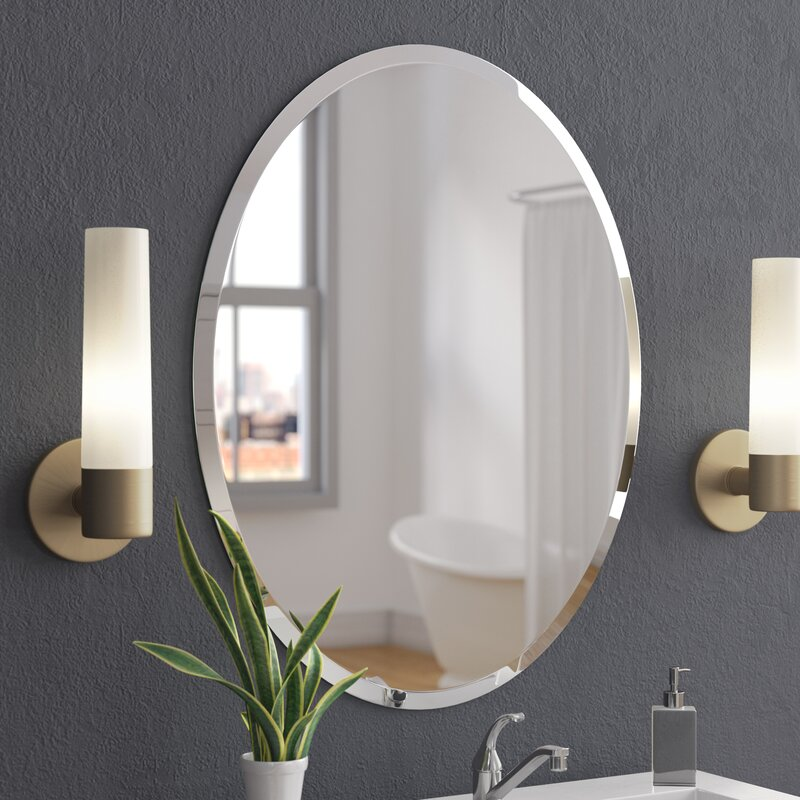 Superieur Callison Oval Bevel Frameless Wall Mirror