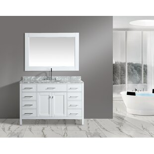 Order London Stanmark 54 Single Bathroom Vanity Set with Mirror BydCOR design