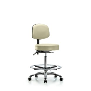 Micah High Bench Height Adjustable Lab Stool by Symple Stuff