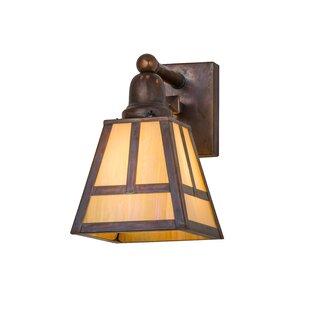 Shopping for Greenbriar Oak 1-Light Outdoor Wall Lantern By Meyda Tiffany