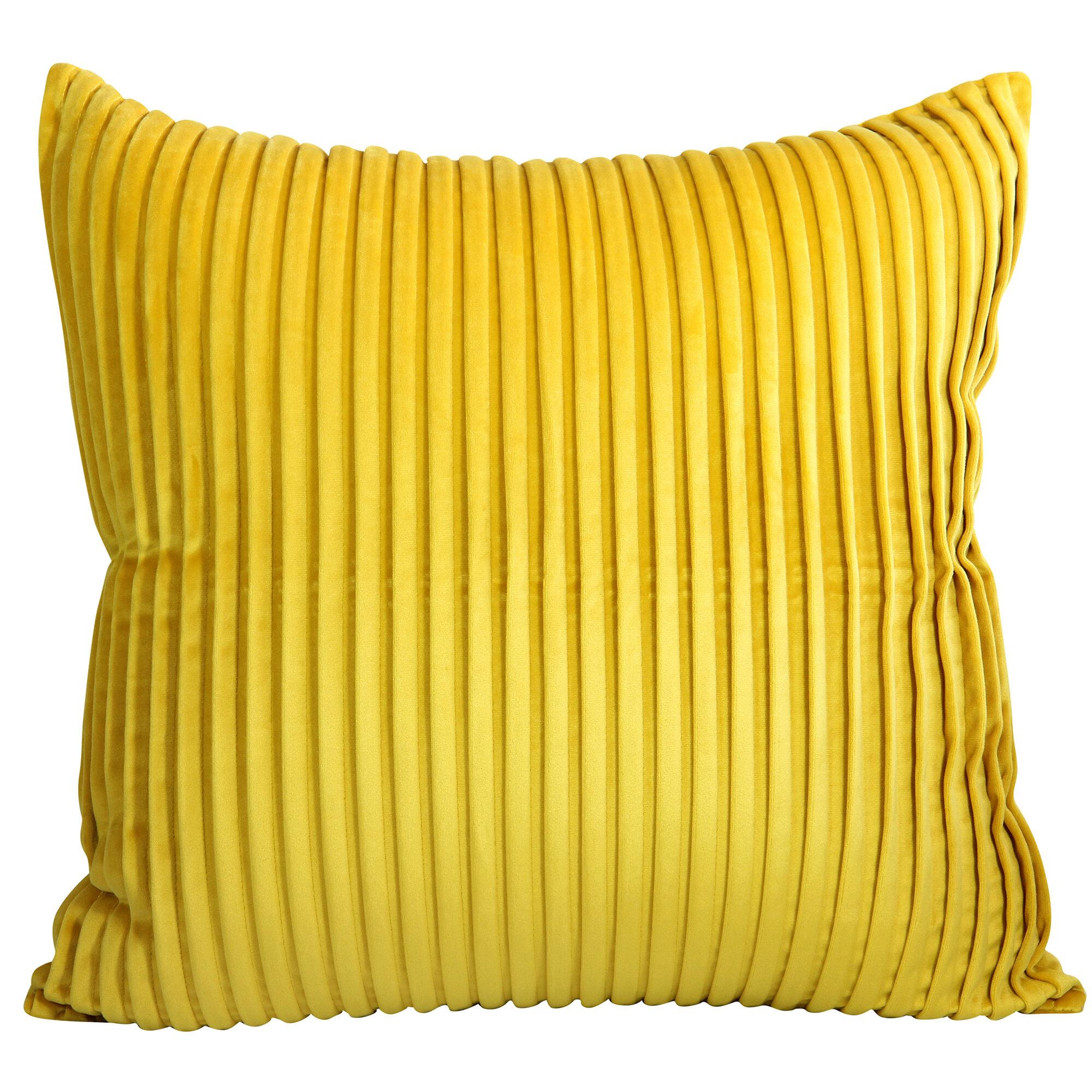 Mercer41 Hand Pleated Velvet Cushion