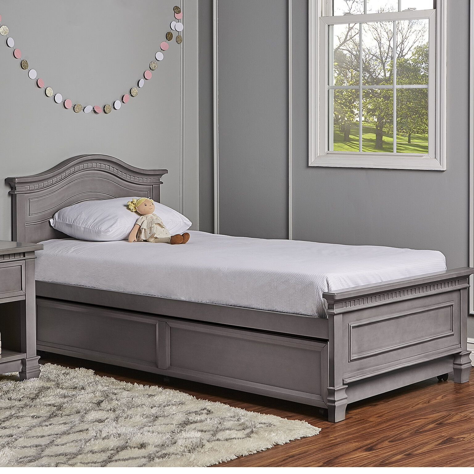 Evolur Cheyenne Twin Panel Bed With Bed Rail Wayfair