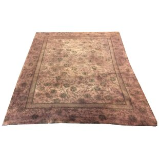 Read Reviews One-of-a-Kind Drury Hand-Knotted Wool Brown/Green Area Rug By Canora Grey