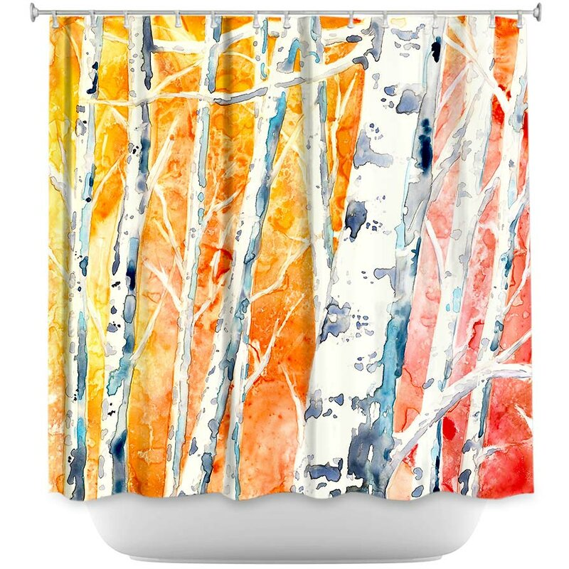 Falling For Colour Birch Trees Shower Curtain