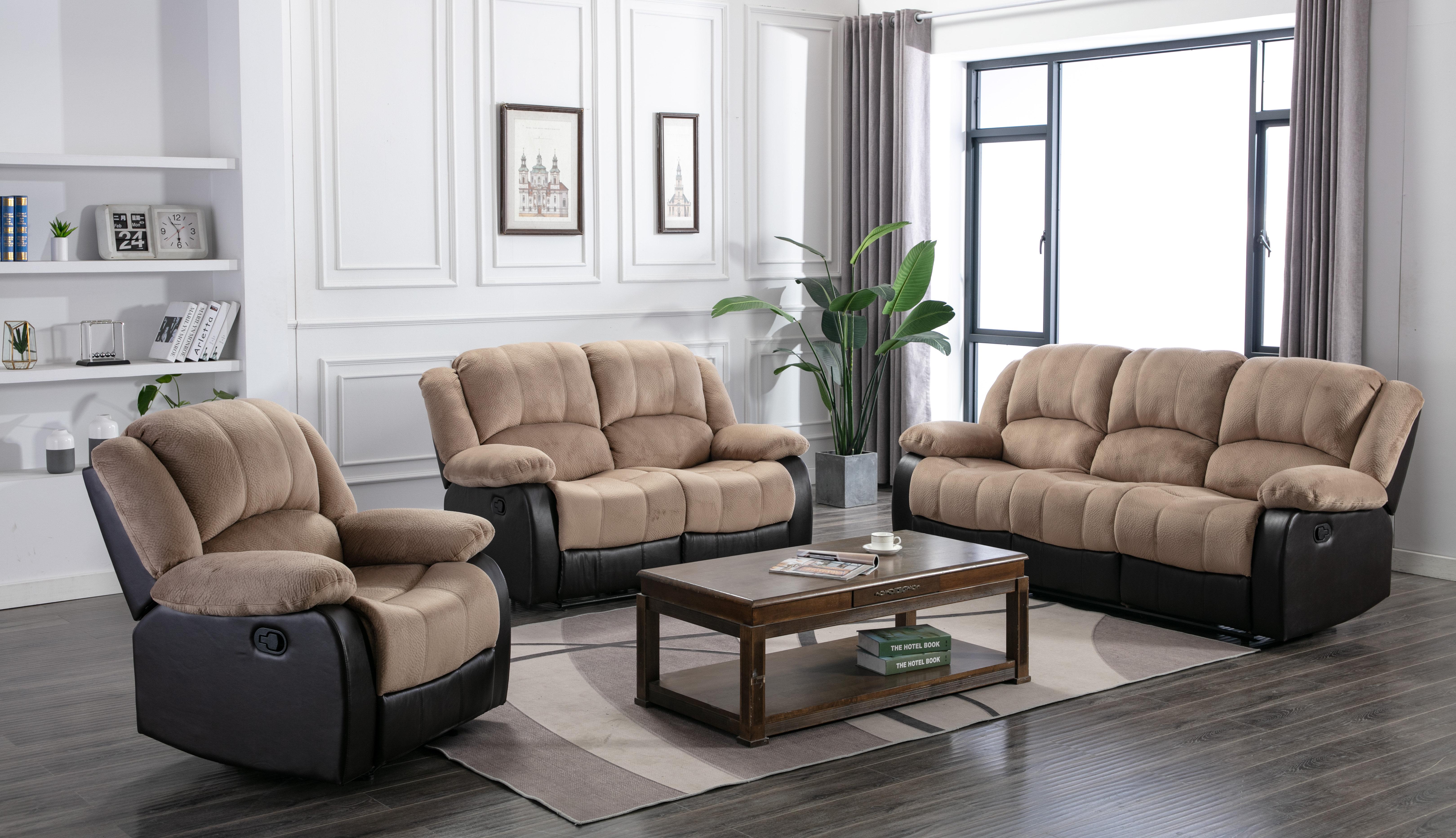 Winston Porter Perrysburg 3 Piece Reclining Living Room Set