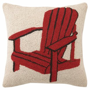 Adirondack Chair Throw Pillow In Red