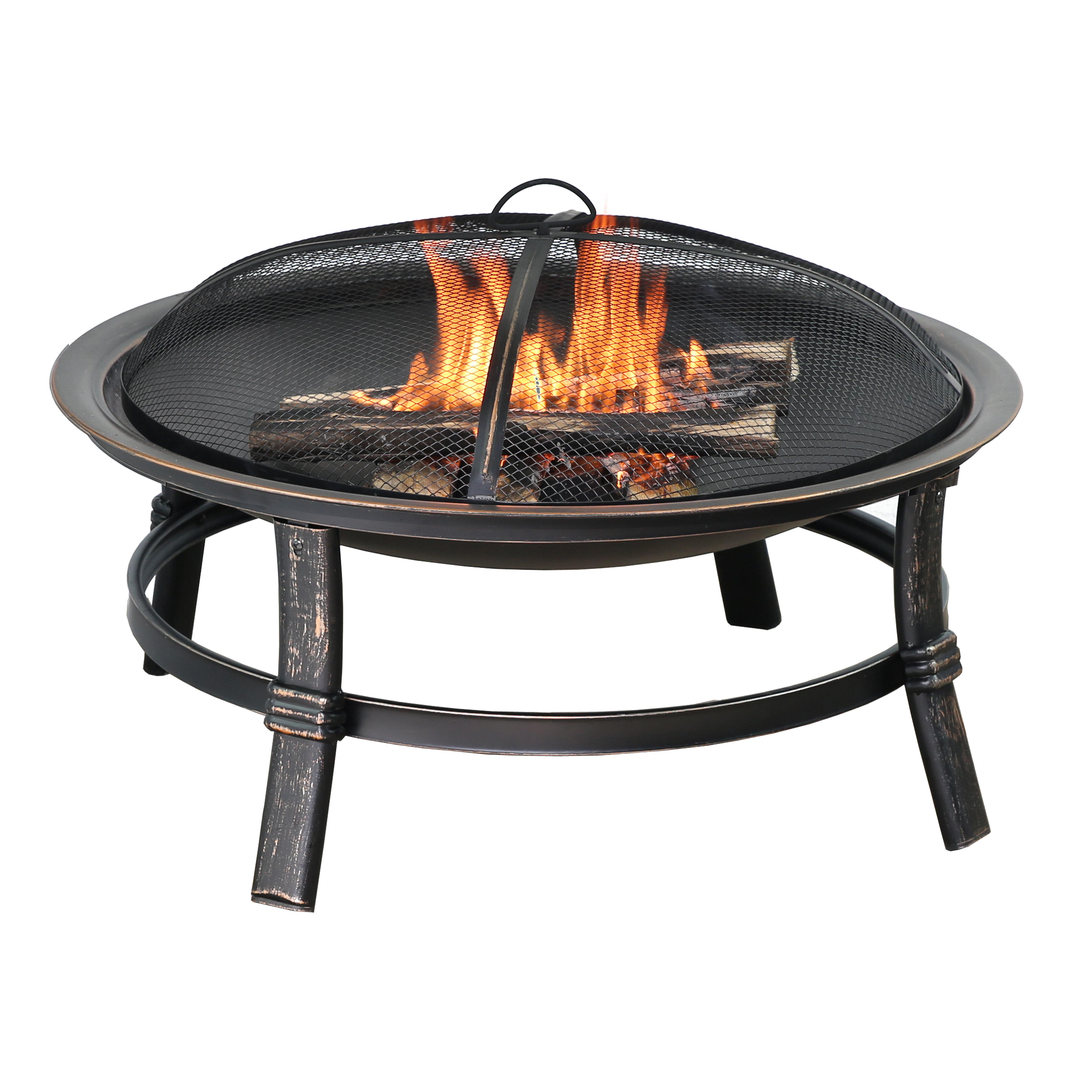 Endless Summer Steel Wood Burning Fire Pit Reviews Wayfair