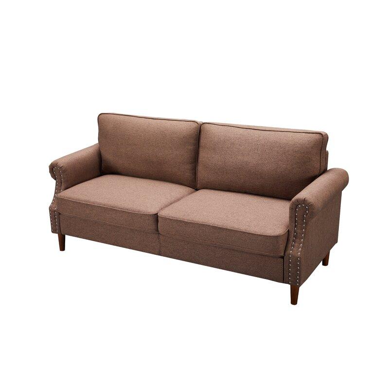 Red Barrel Studio Aliva Velvet 55 9 Square Arm Sofa Wayfair