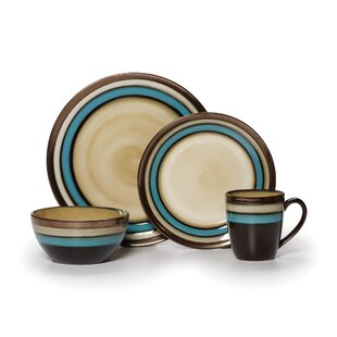 Gourmet Basics Spector 16 Piece Dinnerware Set, Service for 4