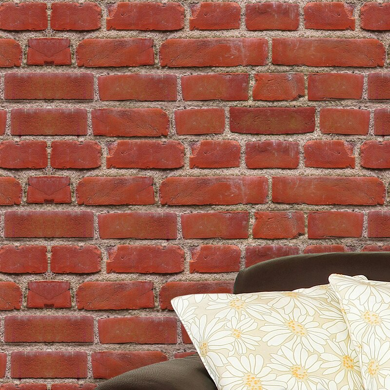 walplus flexiplus vintage brick wall decal | wayfair