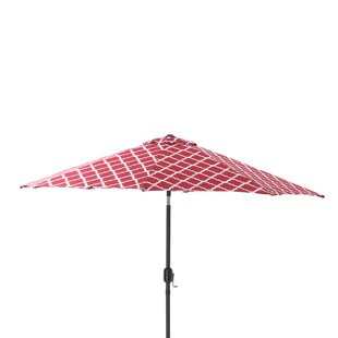 Kobette Teal 9' Market Umbrella by Pillow Perfect