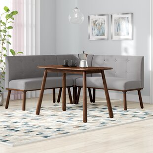 Bucci 4 Piece Breakfast Nook Rectangular Dining Set