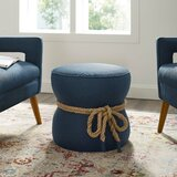 Jovani Rope Upholstered Pouf by Breakwater Bay