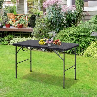 Claughaun Folding Plastic Camping Table By Sol 72 Outdoor