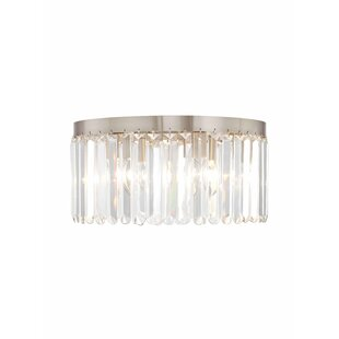 House of Hampton Caroline 5-Light Crystal Flush Mount