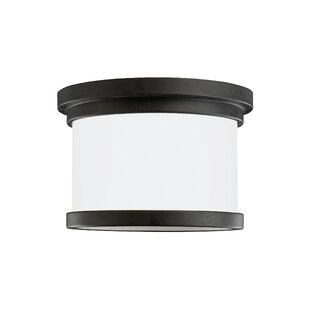 Clearance Dashiell 1-Light Outdoor Flush Mount By Three Posts