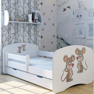 Mice Pimpy Und Brian Bed With Mattress And Drawer By Zoomie Kids