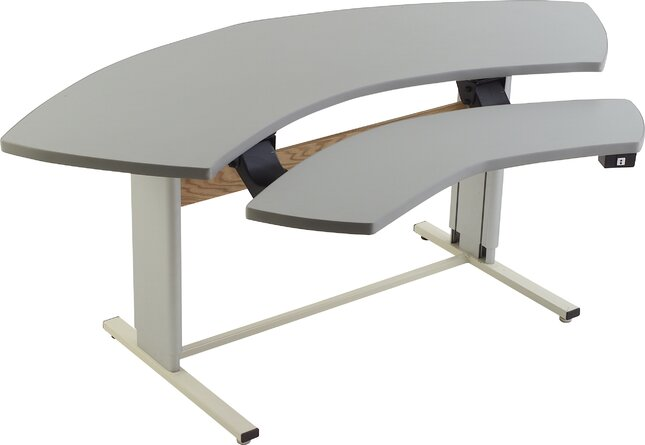 Infinity Height Adjustable Half-Circle Standing Desk Converter