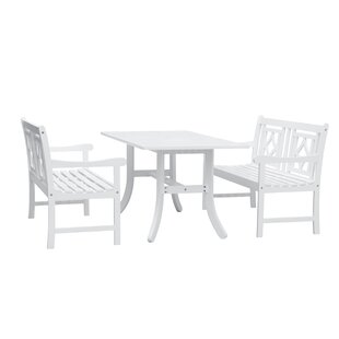 Mahler 3 Piece Patio Dining Set