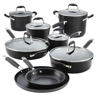 14 Piece Advanced Onyx Hard-Anodized Non-Stick Cookware Set