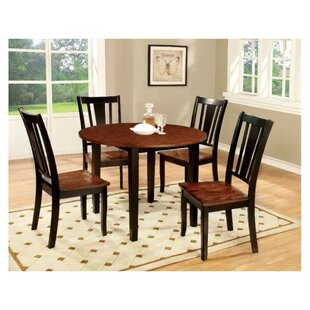 Mooney Drop Leaf Top Round 3 Piece Pub Table Set Winston Porter