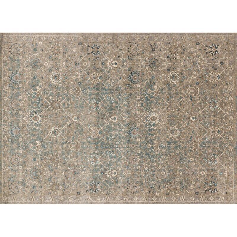 Alcott Hill Adelbert Bluestone Area Rug, Size: Rectangle 710 x 106