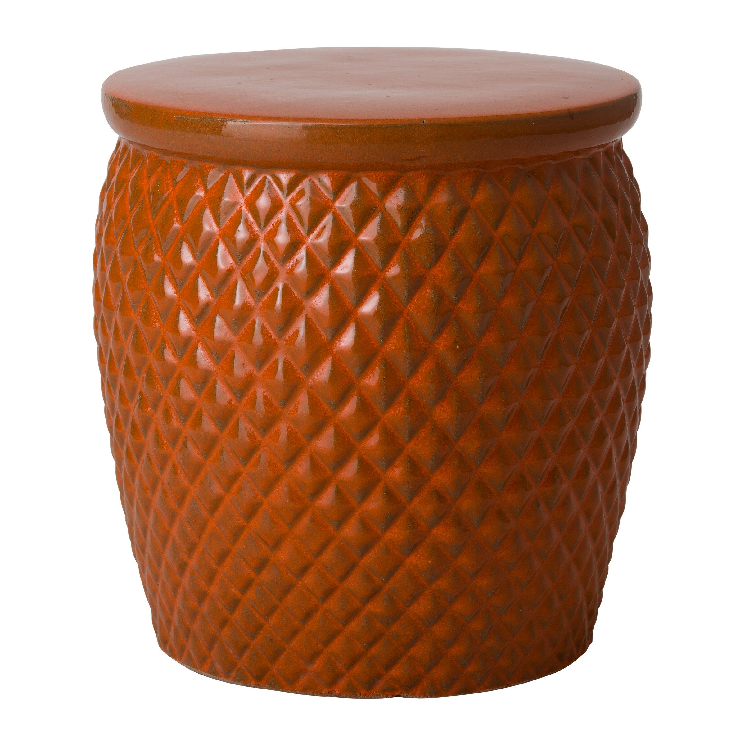 Bayou Breeze Kulik Pineapple Garden Stool   Wayfair