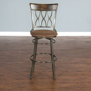 Mapleton 30 Swivel Bar Stool Red Barrel Studio