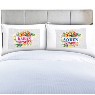 Personalized 2 Piece Pillow Cover Set