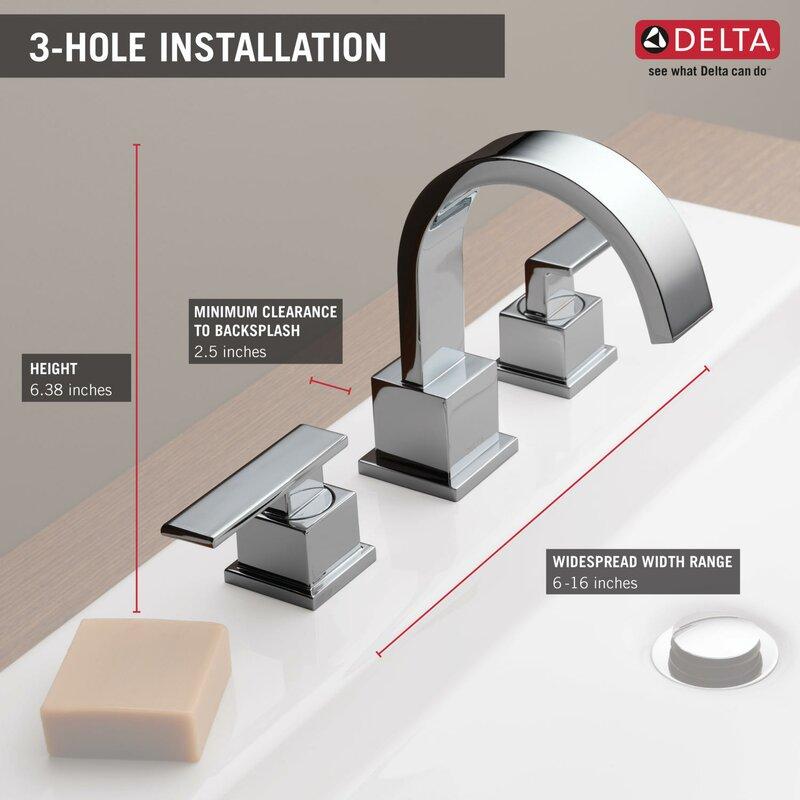 Vero Two Handle Widespread Bathroom Faucet