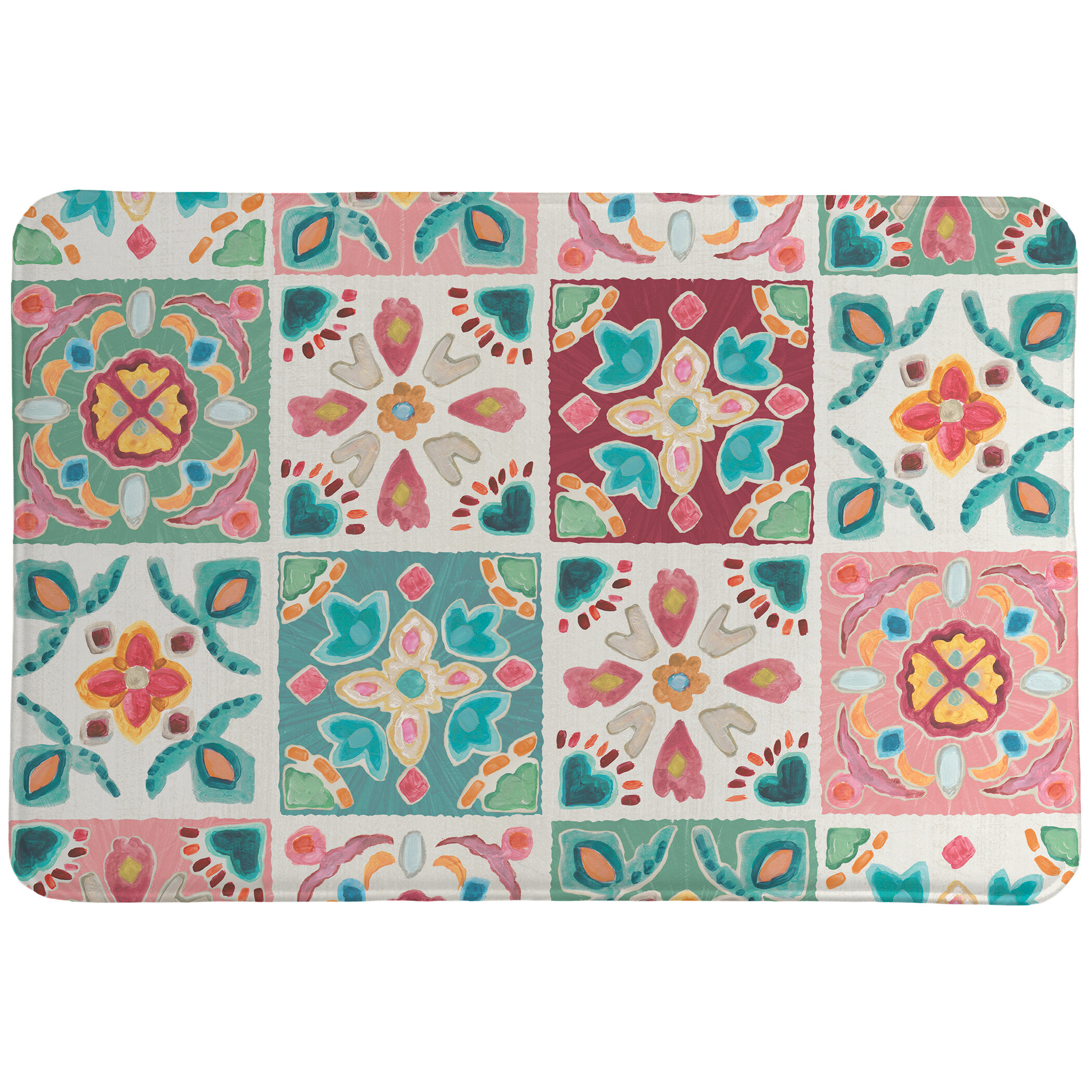 Bungalow Rose Liftig Bohemian Tiles Bath Mat Wayfair