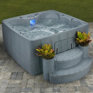 Aquarest Spas, Powered By Jacuzzi® Pumps 6 - Person 29 - Jet Square Plug And Play Hot Tub with Ozonator