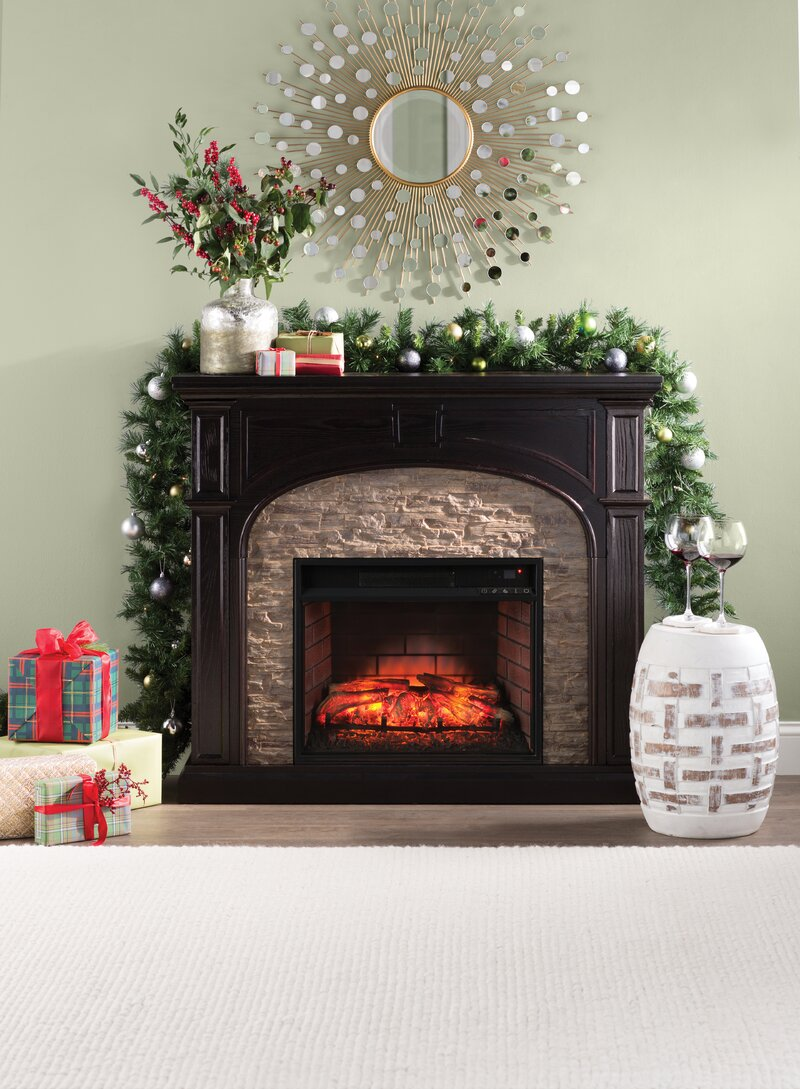 Alcott Hill Contreras Faux Stone Electric Fireplace Reviews