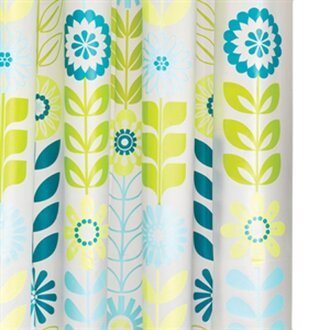 2 - Colorful Shower Curtains