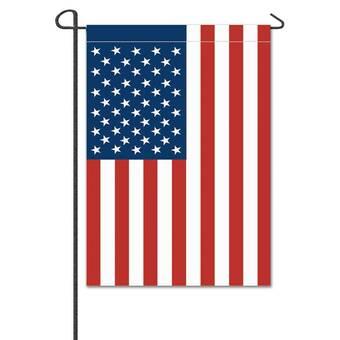 The Holiday Aisle Betha Usa American 2 Sided Polyester 1 6x1 Garden Flag Reviews Wayfair