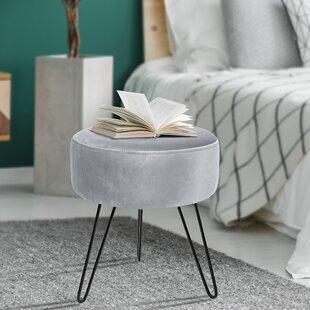 Fabulous Charley Velvet Ottoman Inzonedesignstudio Interior Chair Design Inzonedesignstudiocom