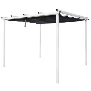 Thais 2.2m X 3m Metal Pergola By Sol 72 Outdoor