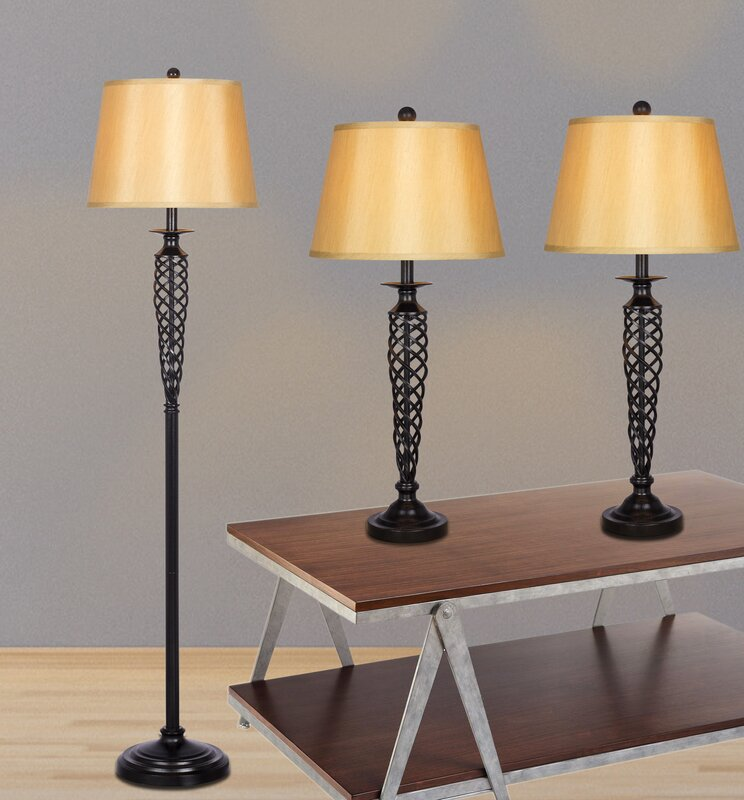 Darby home co alfort 3 piece table and floor lamp set reviews alfort 3 piece table and floor lamp set mozeypictures Image collections