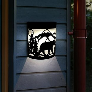 Affordable Truss Solar Powered LED Outdoor Flush Mount By Millwood Pines