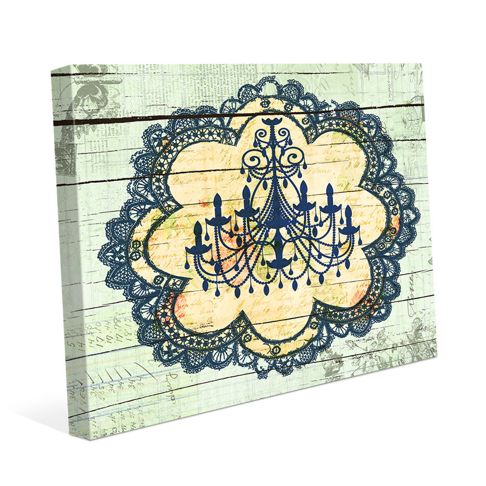 Click wall art blue chandelier lace graphic art on wrapped canvas click wall art blue chandelier lace graphic art on wrapped canvas reviews wayfair arubaitofo Choice Image