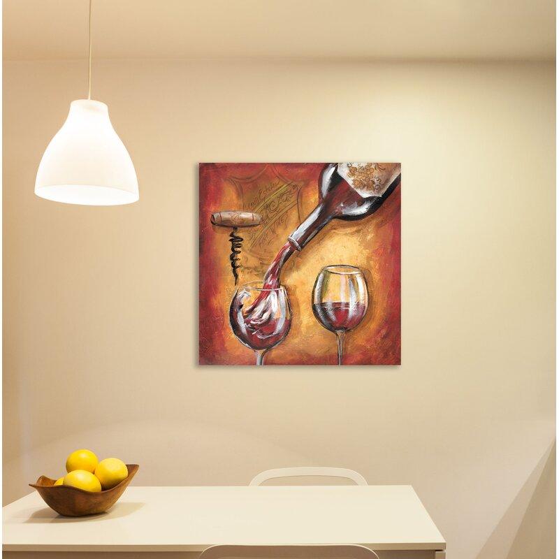 Fleur De Lis Living Wine Pouring Print On Wrapped Canvas Wayfair